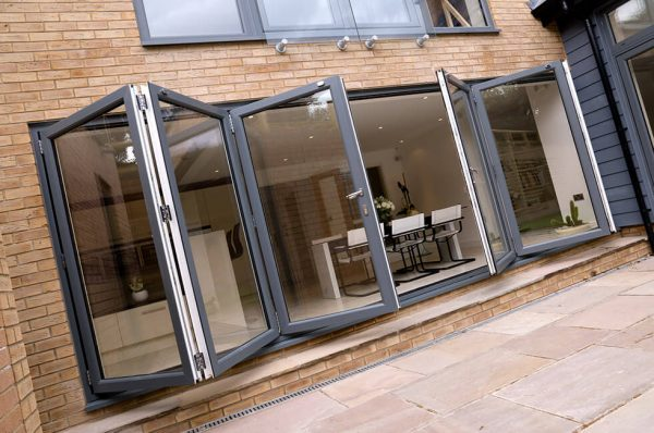 Dual colour uPVC bifold door