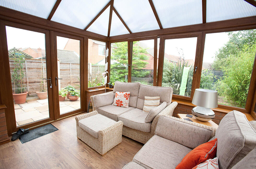 Golden Oak conservatory interior