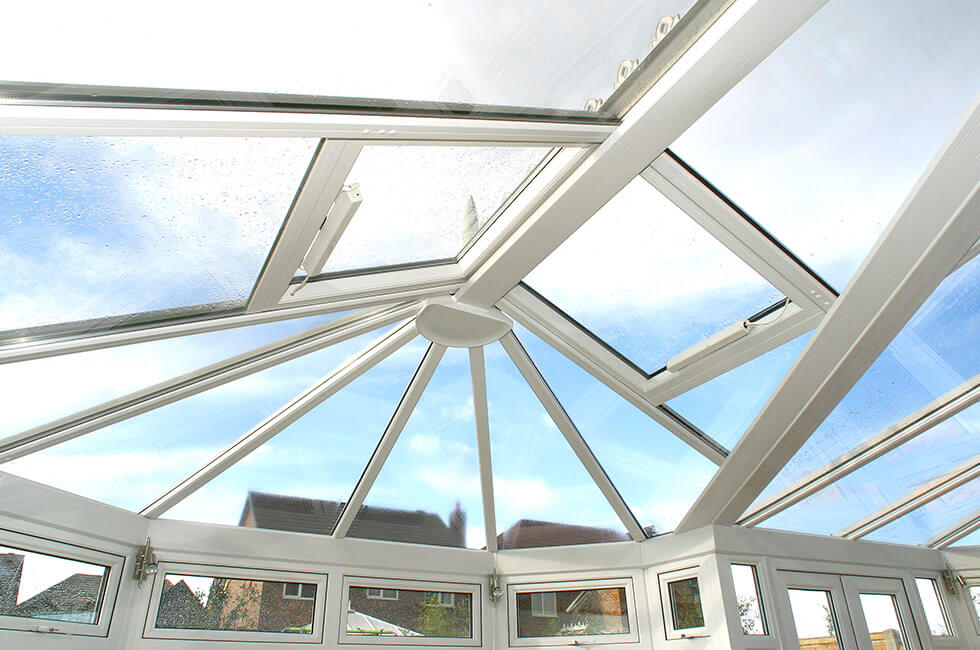 uPVC conservatory glass roof