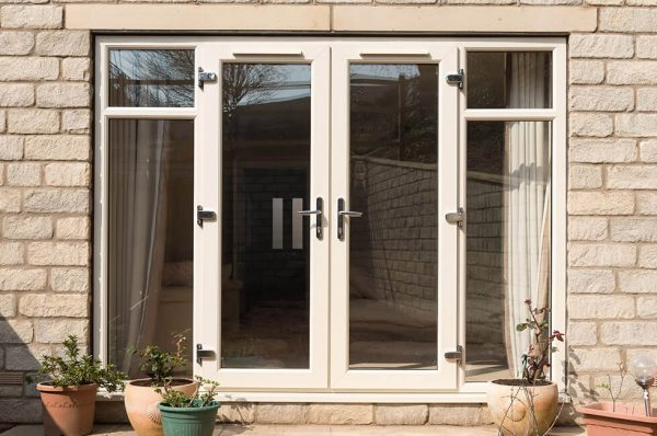 Cream uPVC french door