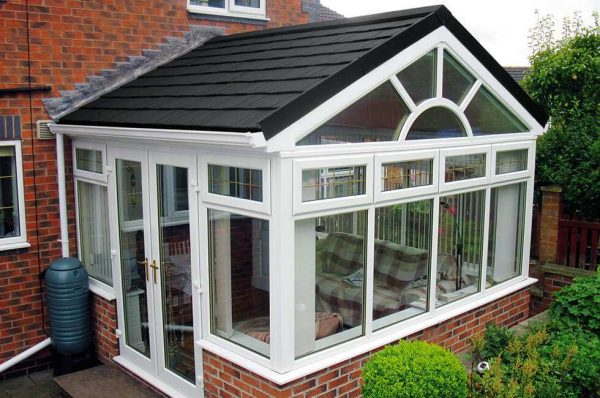 Gable tiled conservatory roof