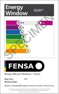 FENSA sample label