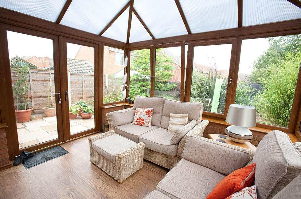 Golden Oak conservatory interior